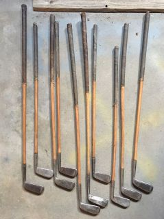 Unbranded 1940 s wood shaft putters.