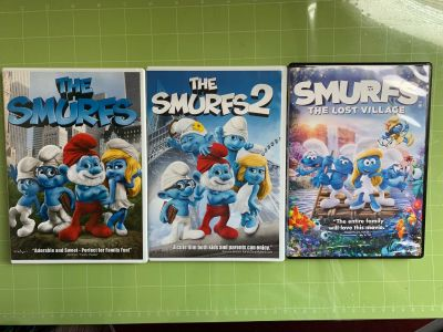 Smurfs 1,2 and 3 DVDs