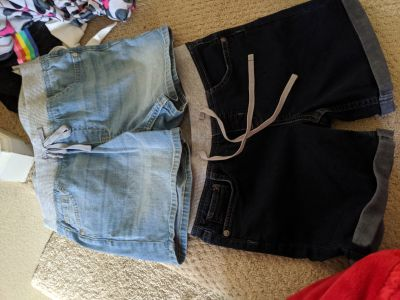 2 pairs Justice jean shorts