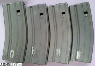 For Sale: Four (4) Preban AR15 30rd mags RARE British SA80 Steel