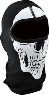 Purchase Zan Headgear White/Black Adult Cotton Skull Balaclava 2016 motorcycle in Ashton, Illinois, United States, for US $14.98