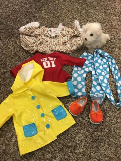 American girl and 18 doll lot