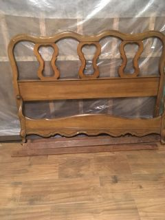 Full size Bed Headboard and Footboard with frame