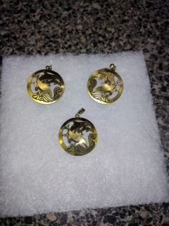 Dolphin Pendant and Matching Earrings. Excellent Condition.