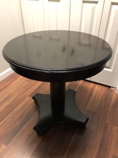 Solid Wood Round Table 26 inches tall 26 inches across