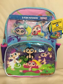 **NWT** Fingerlings Backpack w/ 3 patches