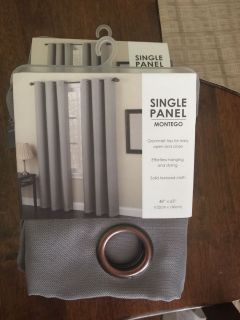 2 single panel curtains