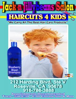 Jack n Jillybeans Salon HAIRCUTS 4 Kids 916-786-3888