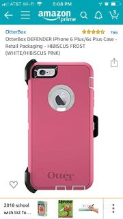 New iPhone 6s Plus and 6plus otterbox defender case only opened box new