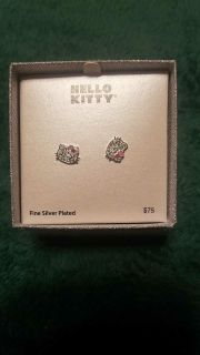 Very pretty sterling silver Hello Kitty earrings never been worn bought them for my granddaughter and she can only wear hypoallergenic