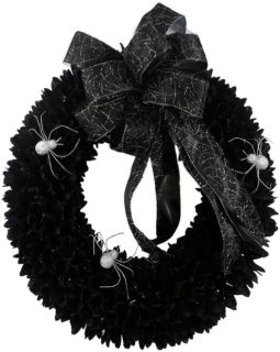 22 in Spooky Spider Wood Curl Wreath