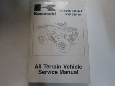 Purchase 2006 2007 2008 Kawasaki Prairie 360 4x4 KVF 360 4x4 ATV Service Shop Manual NEW motorcycle in Sterling Heights, Michigan, United States, for US $145.00
