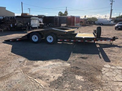 Super-Wide Tiltbed Trailer, Equipment Tilt Trailer, PJ TS202