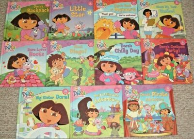 Nickelodeon Dora The Explorer Hard Cover Book Lot
