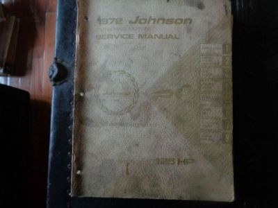Find 1972 JOHNSON SERVICE MANUAL 125 HP MOTORS @@@CHECK THIS OUT@@@ motorcycle in Atlanta, Georgia, United States, for US $14.99