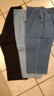 3 pair size 16 pull on pants