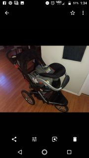 Baby trends carseat and jogging stroller
