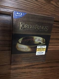 The Lord of the Rings Extended Edition trilogy Blu-Ray Disc boxed set