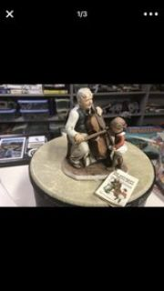 High quality Norman Rockwell porcelain figurine- cello