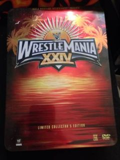 WWE WrestleMania 24 DVD Triple Signed wCollectors Tin (Eunice)