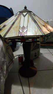 Aztec Stained Glass Lamp by Bryce Creations