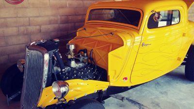 LikeNew 1934 Ford Coupe w/ '53 Merc Flathead & glass bod