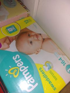 Pampers diapers size 1 164 count