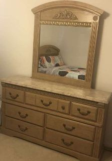 Queen bedroom set and other misc items
