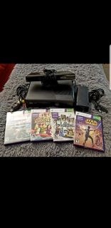 Xbox 360 Slim 4GB Console with Kinect & Games!!!