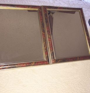 TWO WOODEN FRAMED MIRRORS