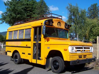 1971 Dodge 1 Ton Short Bus With Roof Rack and Water Tank