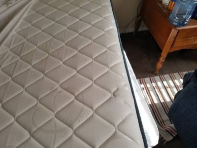 Full size bed with box spring and fram