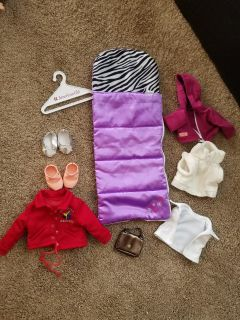 18 inch doll items American girl, target and Wal-Mart brands
