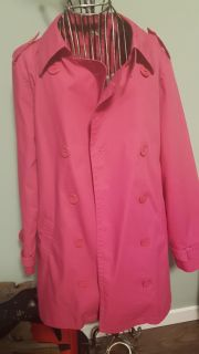 Pink Northern Reflections Trench Coat