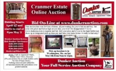 Cranmer Estate Auction Online Only