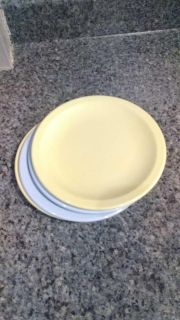 Texas ware small lunch plates, lot of 4, heavy plastic, great for kids