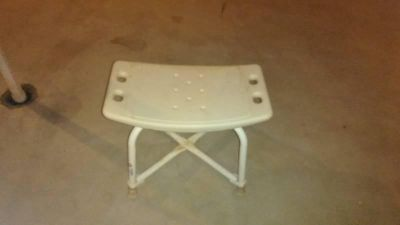White Bath Tub Safety Shower Stool Chair Seat Bench Non Slip Light Weiight