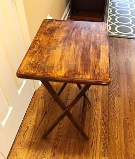 Wooden TV Tray/Small Foldable Table