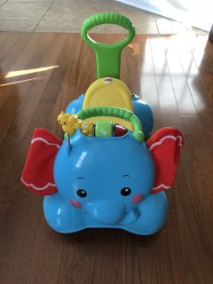 Fisher-Price 3-in-1 Bounce, Stride and Ride Elephant Ride-On Toy