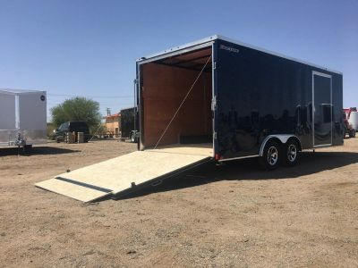 8.5 x 20ft Enclosed Car Hauler, Wells Cargo Enclosed Trailer FT85204