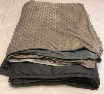 Adult Weighted Blanket and Removable Cover Set
