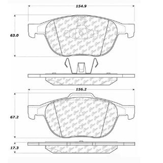 Sell Disc Brake Pad-Posi-Quiet Ceramic w/Shims & Hrdwr-Preferred Front Centric motorcycle in Soquel, California, United States, for US $39.25