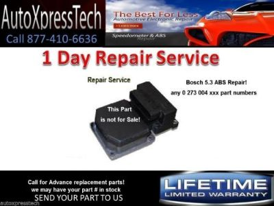 Find VW Audi ABS Control Module REPAIR Bosch 5.3 Repair Service 0 273 004 358 BEST!! motorcycle in Brockton, Massachusetts, United States, for US $49.98