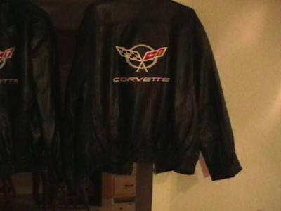 4x,leather jacket embroidried corvette
