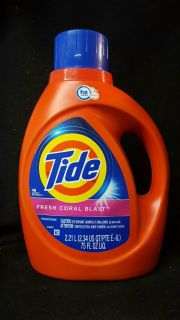 48 load of tide laundry detergent with fresh coral blast