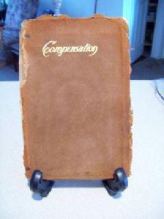 $15 Antique Leather Book Compensation by Emerson (Caldwell)