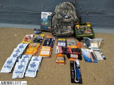 For Sale: Survival Back Pack, Emergency Preparedness Bug out Bag.