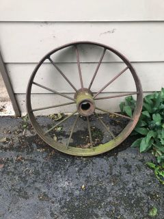 Large Metal Wagon Wheel