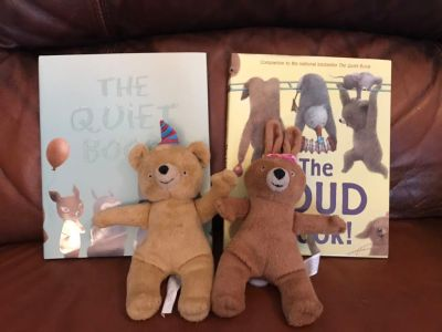 The Quiet and Loud Books with Stuffed Animals