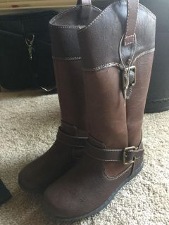 Girls B.o.c. Brown riding boots size 1